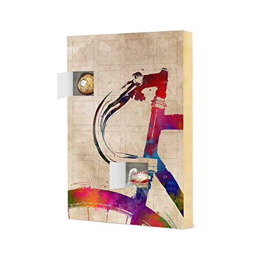 artboxONE Advent Calendar with Ferrero chocolate Bicycle handlebar art Sports Christmas Calendar