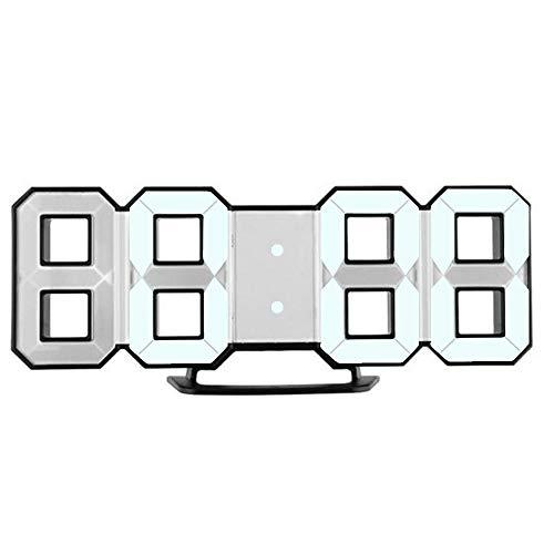 Alarmklocker8B LED klok moderne digitale LED bureau nacht-wandklok wekker klok klok 24 of 12 uur weergave elektronische klok klok # 5% - Blue China