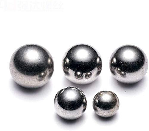 QZMX Bola de Acero Bolas de Acero 8mm7mm9mm, canicas de Hierro, canicas rígidas, Mano de Obra, 6,4 mm Bolas de Acero Brillante, Superficie de 7mm600-brillante 6.35mm800 Bola de rodamiento