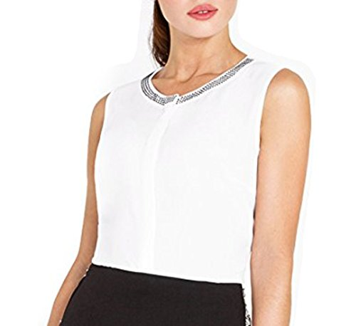 Bestia damesblouse, model VIO, blouse met korte mouwen, bovendeel T-shirt, wit of rood