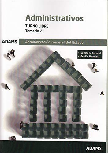 Temario 2 Administrativos Administración del Estado, turno libre
