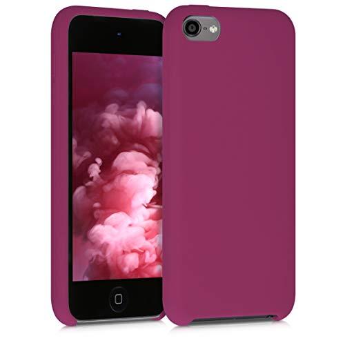 Preisvergleich Produktbild kwmobile Hülle kompatibel mit Apple iPod Touch 6G / 7G (6. und 7.Generation) - Silikon Schutzhülle gummiert - Cover Case in Granatapfelrot
