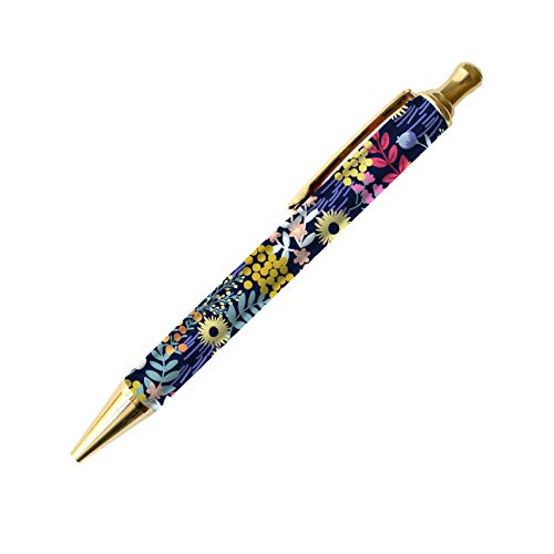 bloom daily planners Planner Pen - Black Ink Click-Tip Ballpoint Stationery Journal Pen - Floral Dots