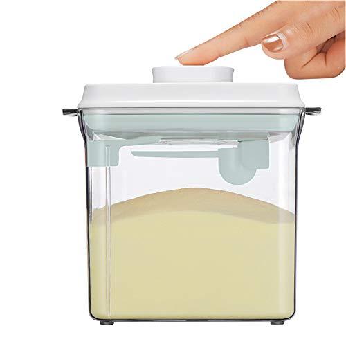 1.7L Caja Portátil de Leche en Polvo,Sellado Caja Transparente Leche en Polvo, Caja de Almacenamiento de Leche en Polvo, Para Almacenar Leche En Polvo, Frutas y Alimentos Para Bebés