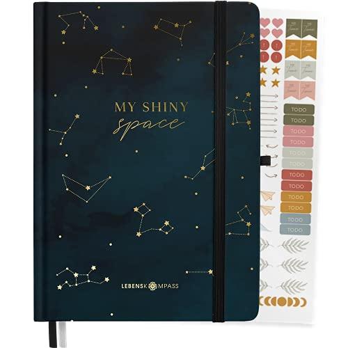 "Bullet Journal PLUS ""Stardust"" Lebenskompass® - Notizbuch A4 Extradickes Papier, Dotted 5 mm, Dickes Papier 120 g/m² FSC® - Bujo Buch & Tagebuch"