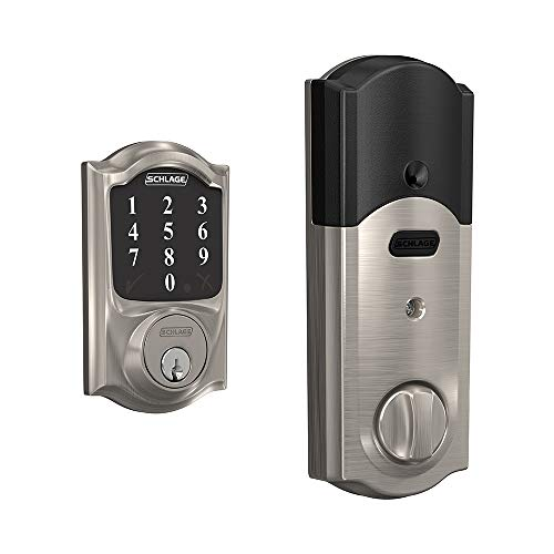 Schlage Connect Smart Deadbolt with Camelot trim in Satin Nickel, Zigbee...