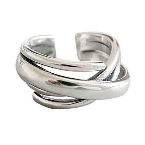 6Wcveuebuc Damen-Schmuck, Geschenk, Vintage, geometrisch, unregelmäßig, verstellbar, für Hochzeit, Party, elegantes Accessoire