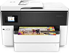 Main functions of this all-in-one wide-format printer: copy, scan, fax, wide-format printing up to 11x17 inches, wireless printing, AirPrint, 2-sided duplex printing, color touchscreen, automatic document feeder, and more The power of your printer in...