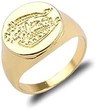 FidgetKute Kingsman:The Secret Service Brass Movie Signet Ring Gold Plated Rings Size 6-10 US 10