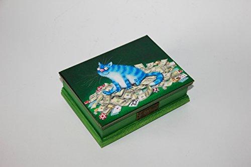 Spielkarten-Box aus Holz, Poker, Geldgeschenkbox, Karten,Kartenbox, Kartenspiel, Handarbeit ca. 17x12x5,5 cm