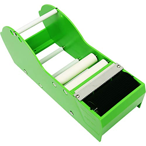 QILIMA Desktop Tape Dispenser,Water Activated Tape Dispenser,Green,12.6in Gum Tape Dispenser Sealing Office Supplies