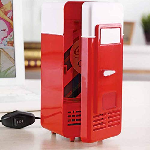 NszzJixo9 Portable Car Office Supplies Mini Fridge USB Hot And Cold Dual-use Refrigerator For Home Office Car Dorm or Boat USB Power Bank
