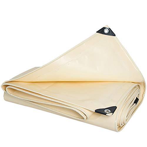 GUOWEI Bâche Nuance Écran Solaire Imperméable Isolation Thermique Coupe-Vent Étanche À La Poussière De Plein Air, 0.5mm D'épaisseur (Couleur : Beige, Taille : 4.8X4.8M)
