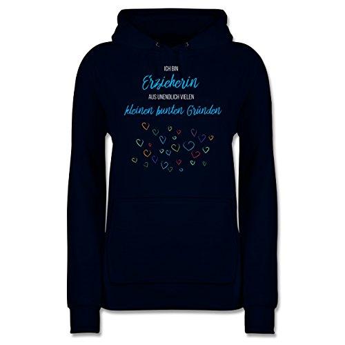 Sonstige Berufe - Erzieherin aus vielen kleinen Gründen - XL - Navy Blau - Erzieherin Pullover blau - JH001F - Damen Hoodie und Kapuzenpullover für Frauen