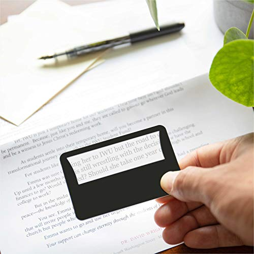 His and Her Credit Card Size Lighted 3X Magnifier Bundle Includes 2 Magnifiers, Each Magnifier for Reading has 3X Fresnel Lens, Use as 3X Magnifying Glass with Light or as Reading Magnifier for Menus