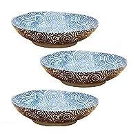 テーブルウェアイースト (古染たこ唐草)パスタボウル (アウトレット込み) 3枚ずつセット パスタ皿 大皿 カレー皿