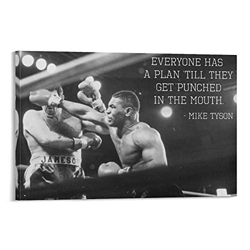 HUANGJINDA Mike Tyson Quote Canvas Art Poster en Wall Art Picture Print Moderne Familie slaapkamer Decor Posters…