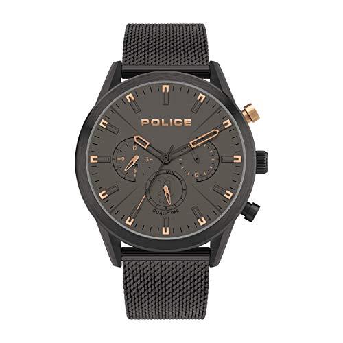 Police Herren Analog Quarz Uhr mit Edelstahl Armband PL16021JSB.79MM