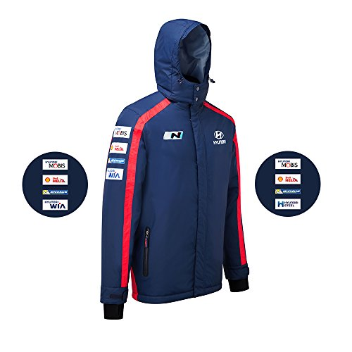 Hyundai Motorsport Team Replica Schwergewicht Jacke WRC Blau Winter Coat XXL Blues