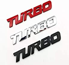 Turbo Door Trunk Window Emblem Fender Trim Kit 2 Piece Kit (RED)