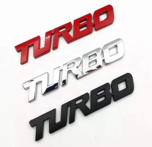 Turbo Door Trunk Window Emblem Fender Trim Kit 2 Piece Kit (RED)