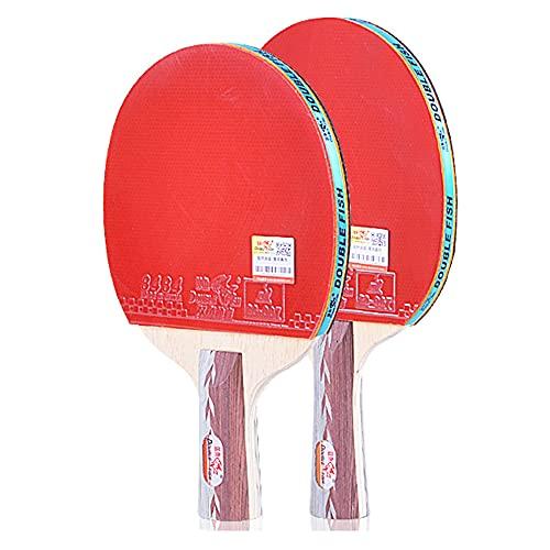LINGOSHUN Juego de 2 Jugadores de Raquetas de Ping Pong,Raquetas de Tenis de Mesa Profesional para Actividades Familiares,Juegos de Ocio / 5 Stars/C