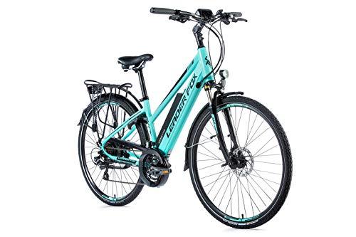 28 Zoll Alu Leader Fox Damen Pedelec Trekking Elektro Fahrrad E-Bike 36V Akku RH 42cm türkis