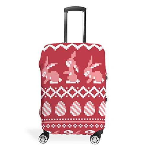 Zhcon Travel Bagage Covers Mode Spandex Bagage Cover Protector Stofdichte Anti-dief Bagage Beschermende Cover Pasen Konijn 3D afdrukken