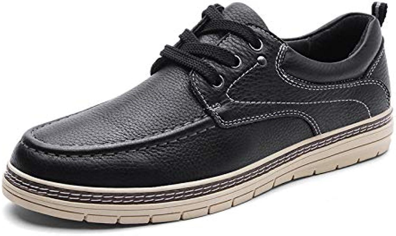 LOVDRAM Men'S shoes Autumn And Winter Casual shoes Men'S Leather Men'S shoes Fashion Wild Fashion Lace Men'S shoes