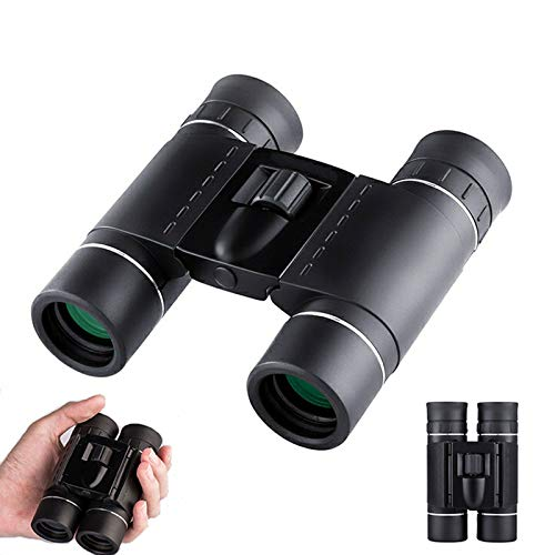 OLDFAI 10x25 Prismáticos Doblez Adultos, Binoculares Compactos Portátiles e Impermeables, Ideales...