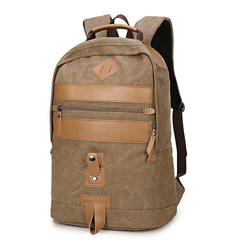 Vintage Lona Mochila De Bandolera La Bolsa Hombro Messenger Bag Laptop Backpack Mochilas Sport para Hombres Mujer,Brown