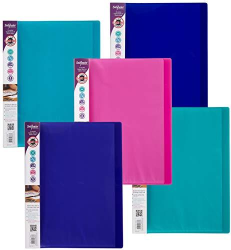 Snopake A4 Sichtbuch (mit je 10 Klarsichthüllen) 10 Stück verschiedene Electra-Farben