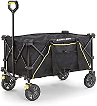 Gorilla Carts GCSW-7P 7 Cu. Ft. Collapsible Folding Outdoor Utility Wagon with Oversized Bed, Black