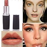 WFQ Pintalabios Lápiz Labial Mate Estilo De Las Mujeres Labio Maquillaje Mate De Pintalabios De Larga Duración Impermeable Cosmético 06 Gold