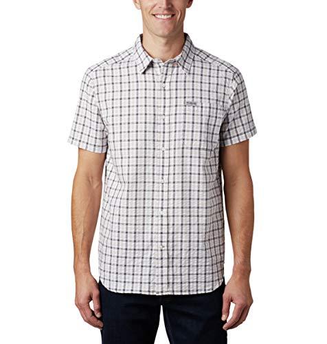 Columbia Herren Brentyn Trail Short Sleeve Seersucker Shirt Hemd mit Button-Down-Kragen, City Grey Gingham, Klein