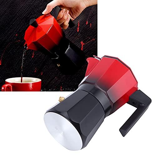 Cafetera, cafetera Manual ergonómica práctica con Material de aleación de Aluminio de Calidad alimentaria para cafeterías y oficinas
