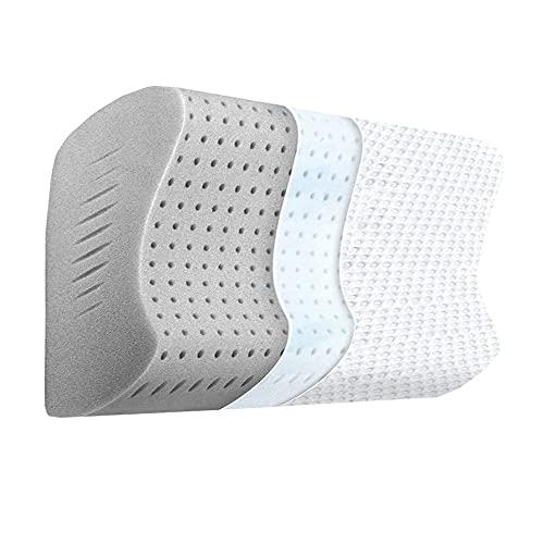 SoQte Almohada de gel de espuma viscoelástica, almohada protectora de la columna vertebral, almohada de núcleo individual, adecuada para adultos individuales