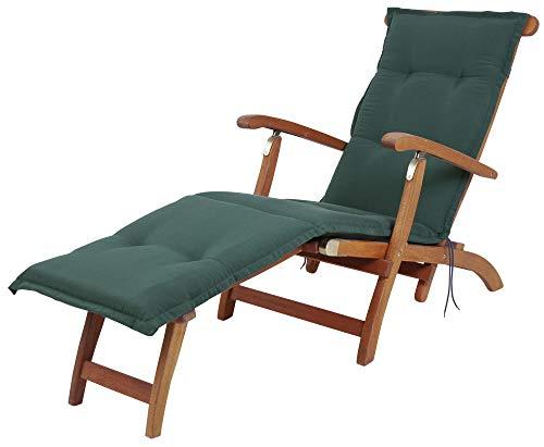 Kettler Polen KETTtex 2147 Auflage Deckchair Florence dunkelgrün Sitzpolster 190x50x6 cm (ohne Stuhl)