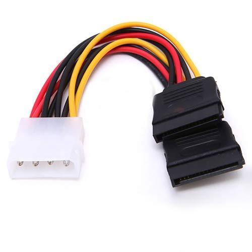 ghfashion 4 Pines IDE Molex A 15 Pines 2 Serial SATA Disco Duro Adaptador De Corriente Cable Adaptador De Cable En Y