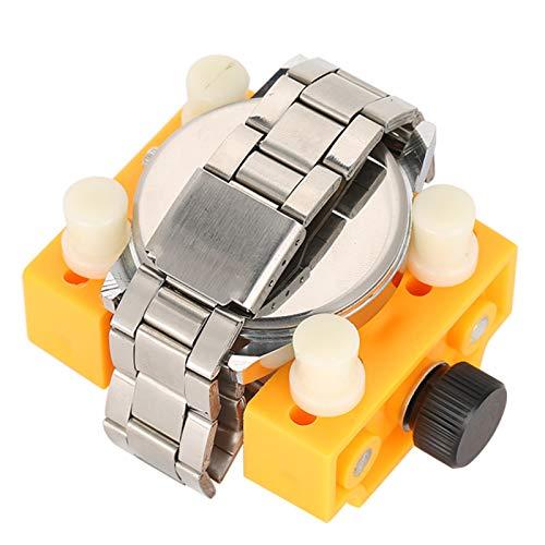 Handy Light Vise Tool Herramienta de reparación de relojes Ideal para fijar el reloj y evitar resbalones(Yellow)