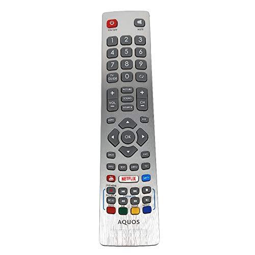 DH1901091551 - Mando a Distancia para Sharp Aquos HD Smart LED TV con Llave Youtube Netflix Fernbedienung