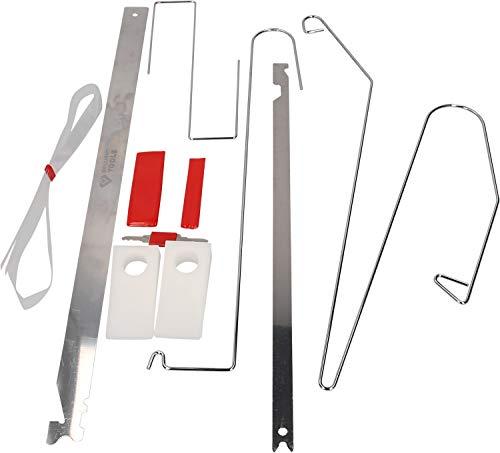Brilliant Tools BT511000 Jeu d'Outils pour déverrouiller Les Portes | 9 pcs, Bleu/Noir