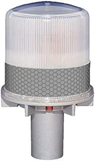 S4L CLEAR 1/4NM SOLAR FLASHING LED Marina Dock Barge Boat Safety Beacon Light
