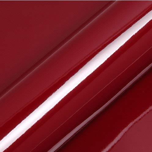Bordeaux glänzend - Klebefolie für alle glatten Oberflächen und Möbel, Farben wählbar, selbstklebende Folie 123cm auf 200cm