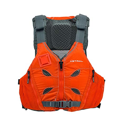 Astral V-Eight Life Jacket PFD for Recreation, Fishing and Touring Kayaking, Burnt Orange, M/L