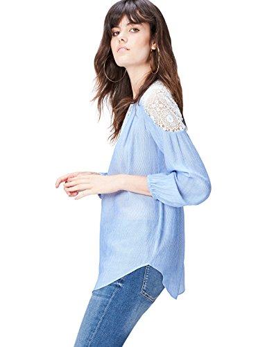 find. Damen Hemd Lace Trim Blau (Blue), 36 (Herstellergröße: Small)