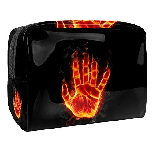 Cool Fire Hand Trousse de toilette en PVC avec fermeture éclair pour femme