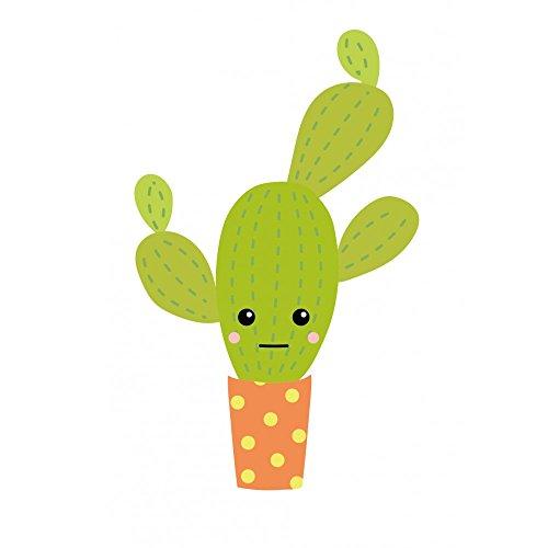 Stickers Autocollants Enfant déco Cactus Vert Design ref 475 - Hauteur 40 cm