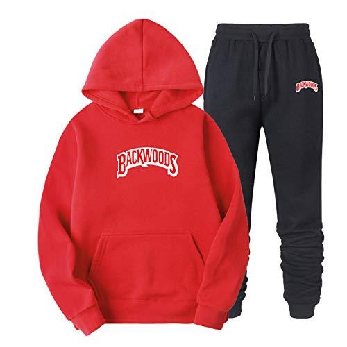 Men's And Women's Long-Sleeved Sweatshirt Drawstring Backwoods Hoodie Sportswear Men's Hip-Hop Sweatshirt Suit XXL