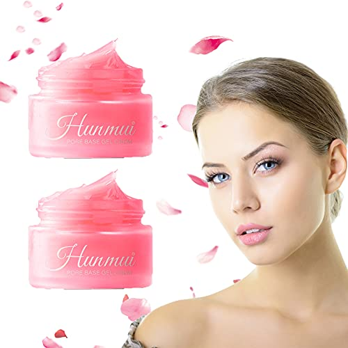 Hunmui Face Primer, 2 En 1 Hunmui Pore Base Gel Cream, Magical Perfecting Base Face Primer Debajo De La Base,...